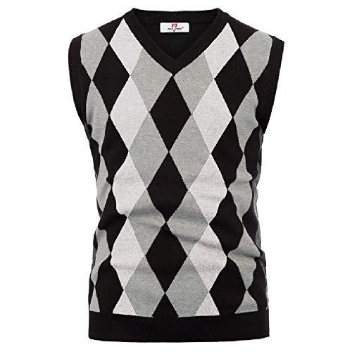 Nieuwe Heren V-hals Mouwloos Vest Knitwear Vest Gebreide Trui Taillejassen