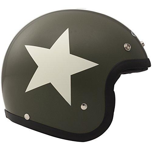 DMD Vintage Helmet - Matte Green Star - M1