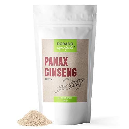 Dorado Superfoods ® roter koreanischer Panax Ginseng Pulver 100 g | das Original aus der 7 Jahre alten Wurzel | frei von Zusätzen