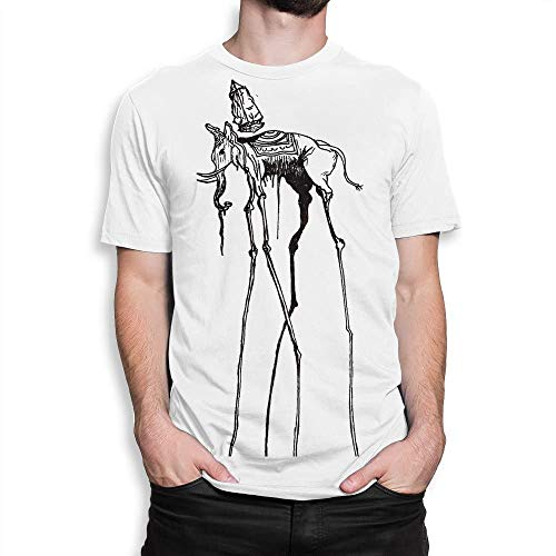 CheChenDengH Lässiger Kurzarm Salvador Dali Space Elephant T-Shirt, Men's