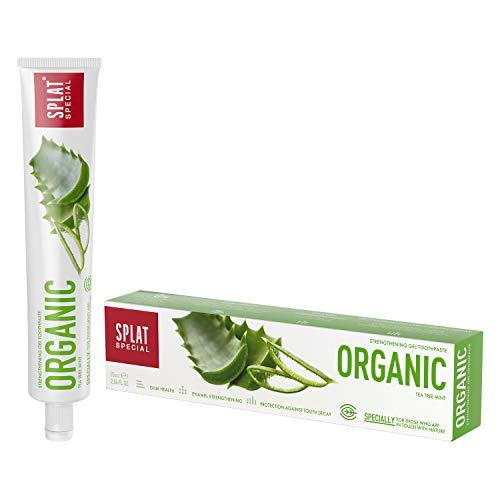 SPLAT SPECIAL Organic Zahnpasta für empfindliche Zähne - fluoridfreie und zu 98,9% natürliche Zahncreme in einer praktischen 75ml Packung - ideal für die Schwangerschaft oder in der Stillzeit