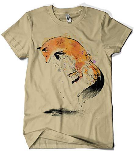 Camisetas La Colmena 3475-Red Fox Jumping into Snow (Dr.Monekers)
