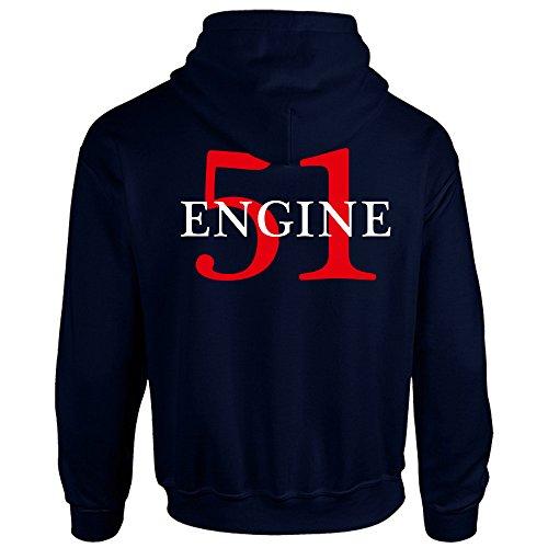 Chicago Fire Dept. - Engine 51 Pullover mit Kapuze (XXL)