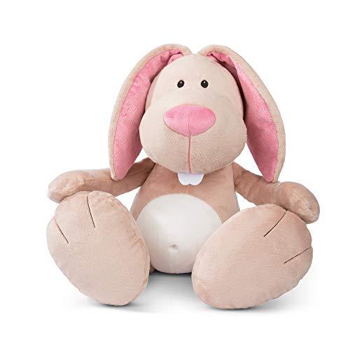 NICI 46336 Kuscheltier My Bunny 70 cm – XXL Plüschtier Hase für Mädchen, Jungen & Babys – Extra Großes Stofftier zum Kuscheln, Spielen und Schlafen – Gemütliches Riesen-Schmusetier, Beige/Pink