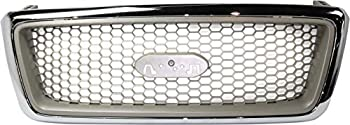 Evan-Fischer Grille Assembly Compatible with 2004-2008 Ford F-150 Chrome Shell/Beige Honeycomb Insert New Body Style