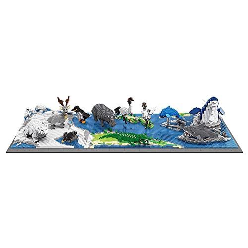 kyman Micro - Micro Bloques de construcción Niños DIY Juguetes ensamblados, Serie zoológico Pequeñas partículas Bloques de construcción Juguetes (Size : 5690PCS)