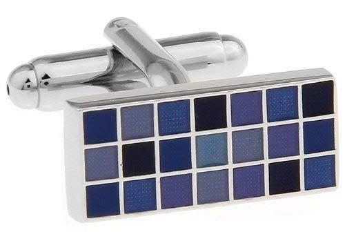 Alfred & Co. Jewellery Manschettenknöpfe, luxuriöser Schmuckschatulle, Manschettenknöpfe für Herren, Violett/Blau