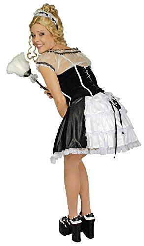 Zimmermädchen Damenkostüm Kleid Faschingskostüm schwarz-Weiss M / L