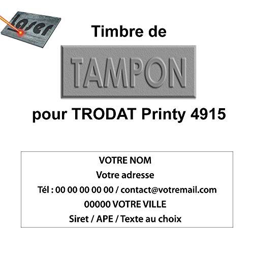 Trodat Printy 4915 - Huella de goma para sellos personalizad