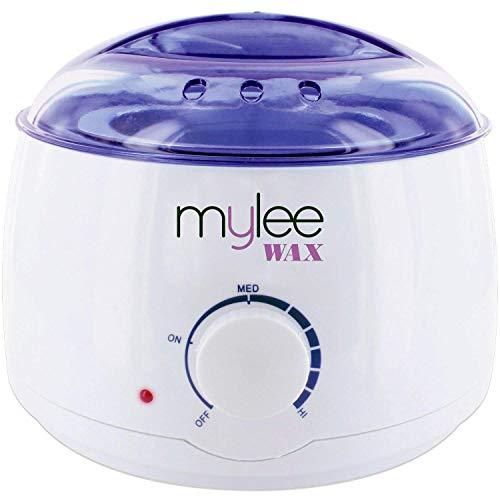 Mylee Professional elektrischer Wachserhitzer für alle Wachstypen, Wachsschmelzer für die Enthaarung, Enthaarungserhitzer mit anpassbarer Temperatur und eingebauter Thermo-Sicherheitskontrolle, 500ml