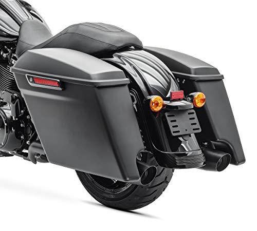 Sacoches Rigides Prolongés pour Harley Davidson Street Glide (FLHX) 14-21 Noir Mat