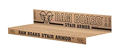 Ram Board Stair Armor for Temporary Stair Protection, 1.58 feet x 2.83 feet (6 Pack)