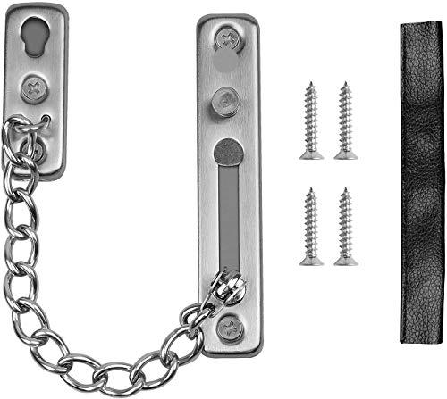 Cadena de seguridad de acero inoxidable 304 para puerta, cerradura de cadena con tornillos, antirrobo, para puertas y paredes, cadenas de seguridad para hotel y apt