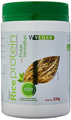 Rice Protein 330g Proteina Arroz Sabor Frutas Vermelhas Wvegan, Mais Nutrition, Sem Cor