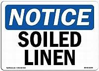 OSHA通知サイン-汚れたリネン通知サイン安全ティンメタルサインロードストリートサイン屋外装飾注意サイン