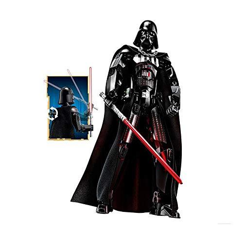 WUHAO Star Wars Darth Vader Montado Robot Building Building Blocks Decoración Cumpleaños Arte Modelo Regalo Modable Muñeca Colección Estatua Juguete 31 Cm