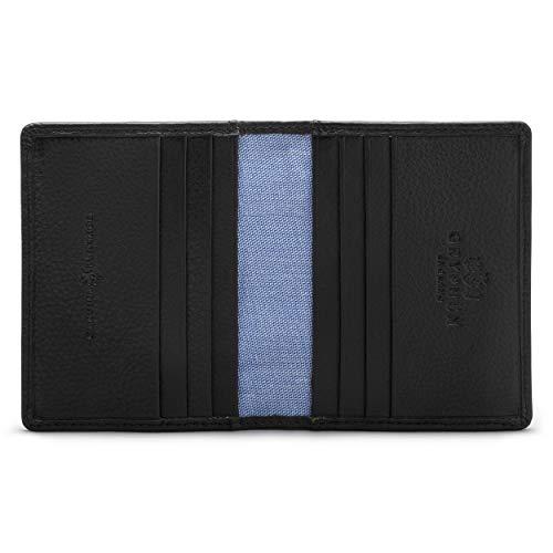 Gryphen - Porta carte di credito a portafoglio modello 'Hoxton' Nero Black