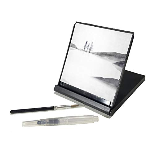 AOVOA Repeatable Water Drawing Board, Inkless Water Drawing Set for Drawing, Painting, Writing & Relaxation, Portable Travel Size with Water Brush (Mini)
