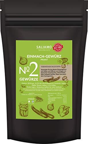 Einmachgewürz pikant für Gurken und Gemüse, Einlegegewürz für Essiggurken, zum Einmachen von Gemüse, Gewürz mit Chillies und Dill (250g)