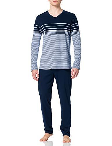 Schiesser Herren Schlafanzug lang Zweiteiliger' Pyjamaset, hellblau, 54