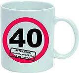 Tazza Uomo Donna Mug Compleanno 40 Anni 20 Anni con 20 di Esperienza cm 8x10