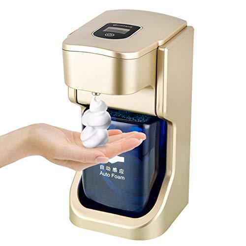 Dispensador de jabón Espuma automática Cocina Sensor infrarrojo sin Contacto Baño Dorado/Plateado,Golden