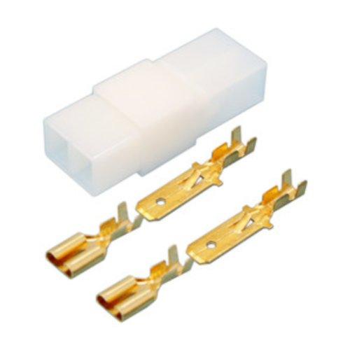 2x Scatola di collegamento polarizada 2Faston maschio + 2Faston femmina 6,3mm.