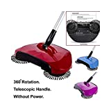 LADKI Creation® Broom Dust Bin 360 Rotary Sweepers Dustpan Household Cleaning Tools,Easy Use Auto Spin Hand Push Sweeper,Floor Dust Cleaning Mop,Sweeper for Floor,Sweeping Broom for Home, Multicolour