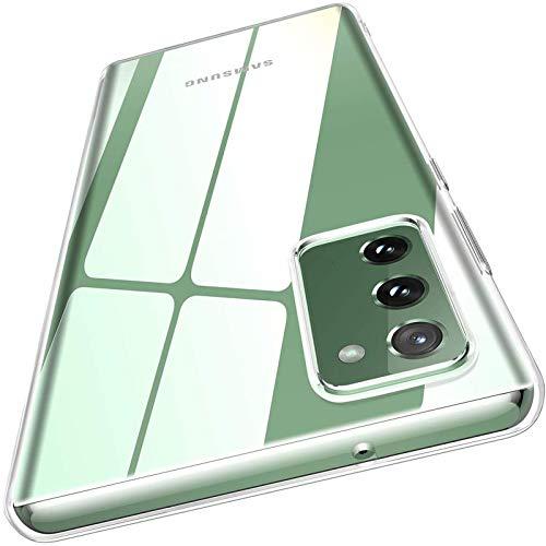 AINOYA - Carcasa para Samsung Galaxy S20 FE, carcasa de protección transparente, de silicona TPU flexible, ultra fina, ligera, compatible con Samsung Galaxy S20 FE, transparente