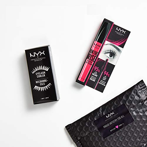 NYX Professional Makeup On The Rise Lash Lift & Curl Set - Wimpern-Set zweiteilig mit Wimpernzange und On the Rise Volume Liftscara Mascara, Black 01, 370 g
