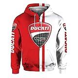 Unisex primavera y otoño de manga larga ropa de abrigo 3D Digital Ducati Logo...