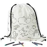 Regalos Estrella Azul regalos cumpleaños niños colegio pack 20 bolsas de tela para pintar con pinturas regalos para cumpleaños infantiles. Ideales como detalle cumpleaños infantil