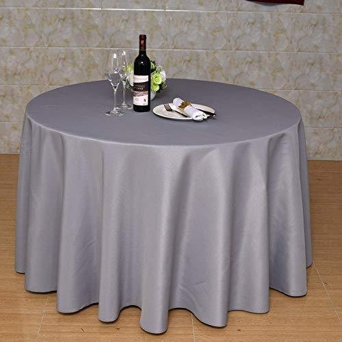 Haoxp afwasbaar onderhoudsvriendelijk picknick restaurant party voor binnen en buiten rond tafelkleed waterdicht en vuilafstotend - grijs rond 180