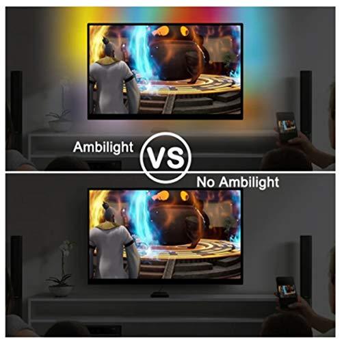 Aemiy - Tira de luces LED para televisor Ambilight con pantalla de sueño, USB, LED, HDTV, monitor de ordenador, luz de fondo, direccionable, juego completo: Amazon.es: Iluminación