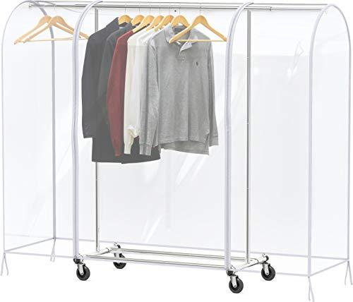 Simple Houseware Clear Garment Rack Cover