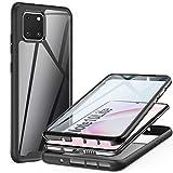 ivencase Samsung Galaxy Note 10 Lite Hülle, Stoßfest Cover Note 10 Lite 360 Grad vollschutz Handyhülle Rugged Schutzhülle Note 10 Lite mit eingebautem Bildschirmschutz Stürzen Stößen Handyhülle, Schwarz