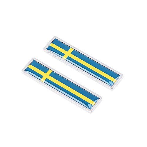 1 para Schweden Flagge Metall Auto Aufkleber Schmücken Aufkleber Emblem Abzeichen Für BMW Opel Lada Hyundai Renault Toyota Honda