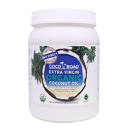 Coco Road Organic & Fair Trade Virgin Coconut Oil (54 Fl Oz)