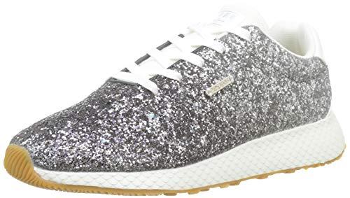Pepe Jeans London Damen KOKO Glam Sneaker, Silber (Silver 934), 36 EU