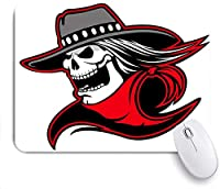 Mabby ゲームオフィスのマウスパッド,Cowboy Skull Cartoon of a skull with western hat and bandanna,Non-Slip Rubber Base Mousepad for Laptop Computer PC Office,Cute Design Desk Accessories