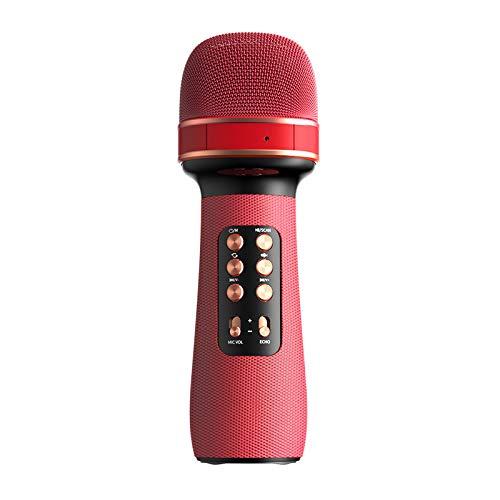 iScooter Micrófono de mano Bluetooth Karaoke, altavoz portátil de karaoke, altavoz de micrófono para iOS Android Smart TV System WS-898