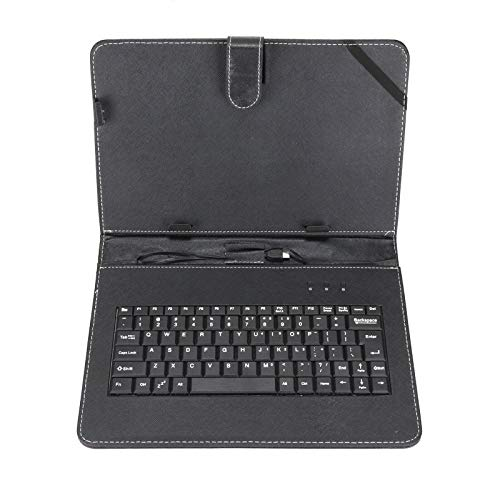 ADHW Leather Keyboard Case+USB With Stand Cover Black for 10' inch Android Tablet UK