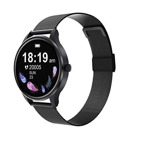 G3 Damen Smartwatch Damen Fitness Schlaf Überwachung Sport Smartwatch (schwarz)