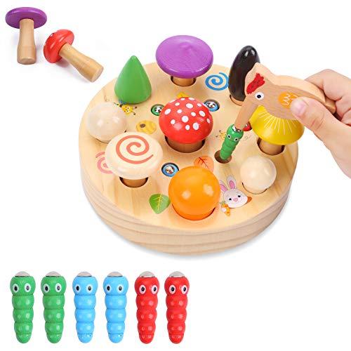 Ulikey Montessori Jouets en Bois Educatif, Jouet Montessori Motricité Fine pour Enfant, Jouets...