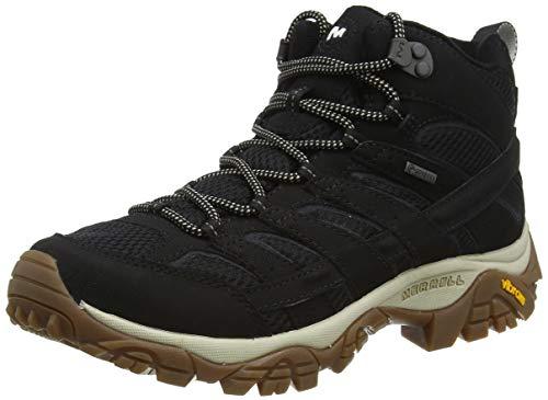 Merrell MOAB 2 Mid GTX, Zapatillas para Caminar Hombre, Negro/Goma, 41 EU