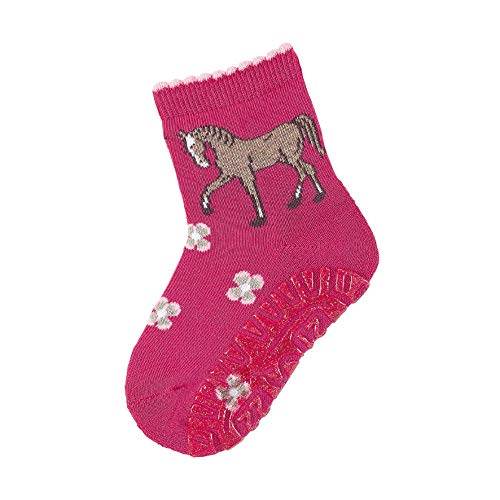 Sterntaler Baby-Mädchen Glitzer-Flitzer AIR Pferd Socken, Magenta, 26