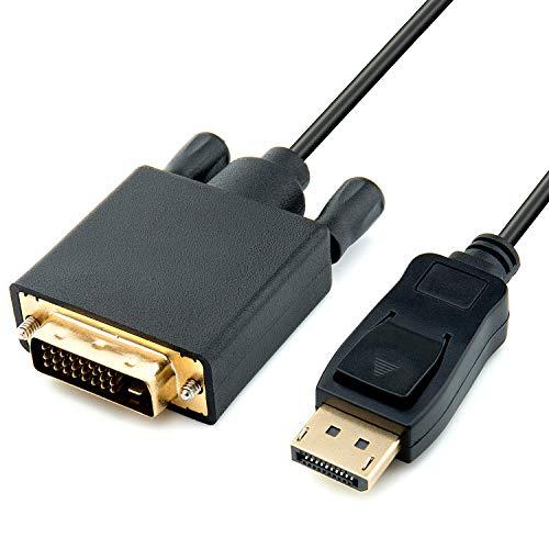 ZWOOS DisplayPort-auf-DVI-Adapter, 1.8m 1080P DisplayPort Stecker zu DVI Stecker Kabel