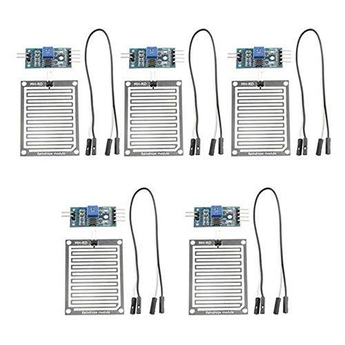 CLJ-LJ (5 Packs) Raindrop Module/Rain Sensor Module/Modules Large Raindrop Sensor Weather Module Spot Steuermodul