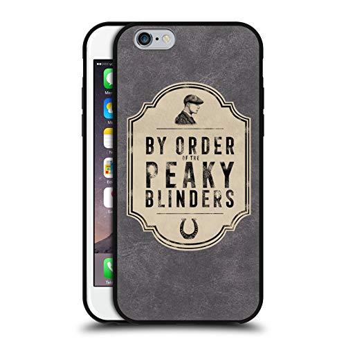 Head Case Designs Ufficiale Peaky Blinders By Order 2 Arte Cover in Pelle Parte Posteriore Grigio Compatibile con Apple iPhone 6 / iPhone 6s
