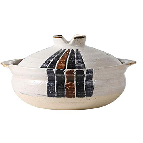 CJTMY Cazuela, Multifuncional de Cocina Utensilios de Cocina de cerámica de la Salud Diseño sartén Antiadherente con Tapa cazuela de Cocina